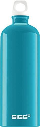 sigg fabulous aqua botella cantimplora (1 l), botella con tapa hermética sin sustancias nocivas, botella de aluminio ligera y robusta