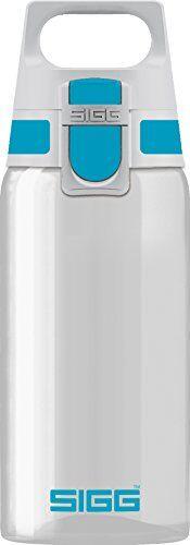 sigg total clear one aqua botella cantimplora (0.5 l), botella hermética sin sustancias nocivas, botella transparente y ligera de plástico tritán
