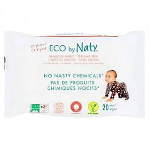 Nature Babycare - Toallitas desechables, 20 unidades