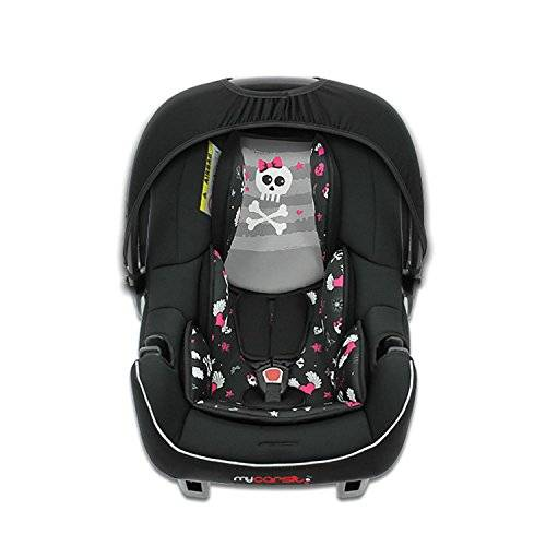 mycarsit - silla para coche para bebés, grupo 0+ (de 0 a 13 kg). diseño de piratas rosa.