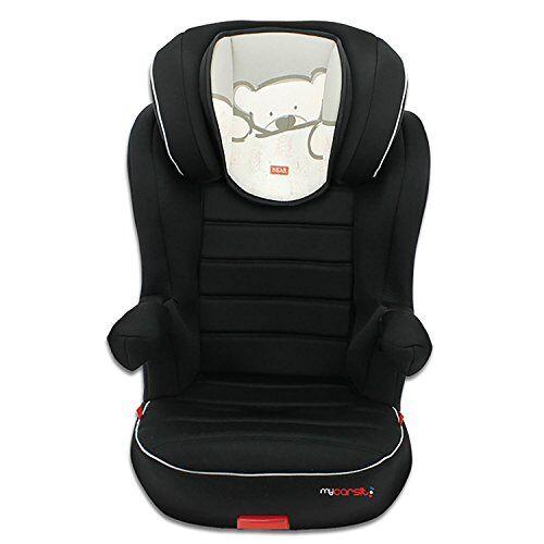 mycarsit, silla de coche grupo 2/3 isofix, diseño de osito beis