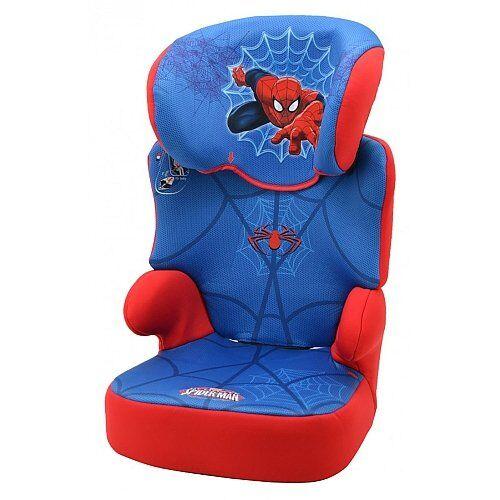 mycarsit - silla de coche para niños con respaldo alto, modelo spiderman, de 15 a 36 kg
