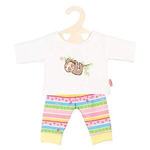 Heless 1965 - Conjunto de Ropa para muñecas, Pijama con diseño de Perezoso, tamaño 28 - 35 cm