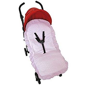 for-your-little-one broderie anglaise asiento maletero compatible con jane buggy carrito de bebé, color rosa