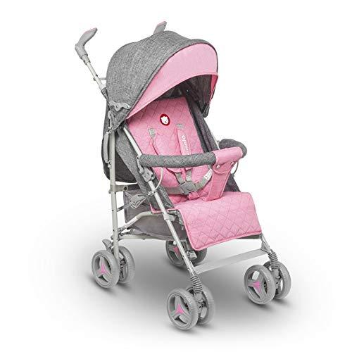 lionelo lo-irma pink irma buggy - carrito de viaje plegable con posición tumbada, 7 kg, color rosa