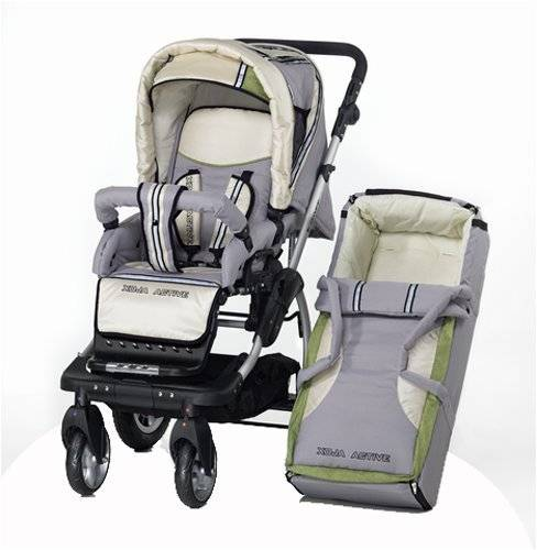 bebidoo by knorr 80804 - kit de carrito para viaje (cubierta desmontable, incluye funda para los pies, manillar ajustable, cesta)
