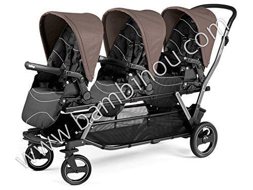 peg perego 8005475374764 silla de paseo sillita de paseo de sistema de viaje 3 asiento(s) negro - cochecito (sillita de paseo de sistema de viaje, 36 mes(es), 3 asiento(s), negro, plano, 20 cm)