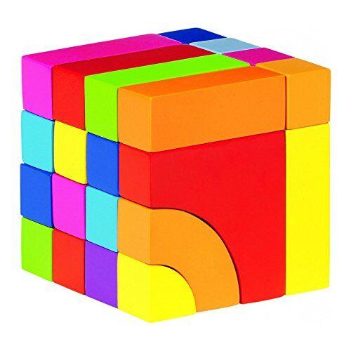 goki 3dpuzzles 3dgokipiezas de construccion y juego de puzzle,en bolsa de algodn, multicolor (gollnest & kiesel kg g1023/58660)