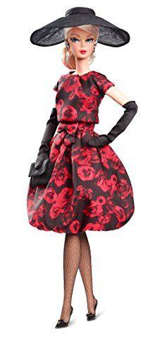 barbie collector, mueca elegant rose cocktail (mattel fjh77)