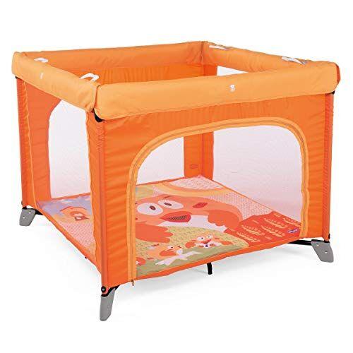 chicco open box parque de juegos infantil bebé con alfombra extraíble y cremallera, 0 4 años, diseño gallina color naranja (fancy chicken)