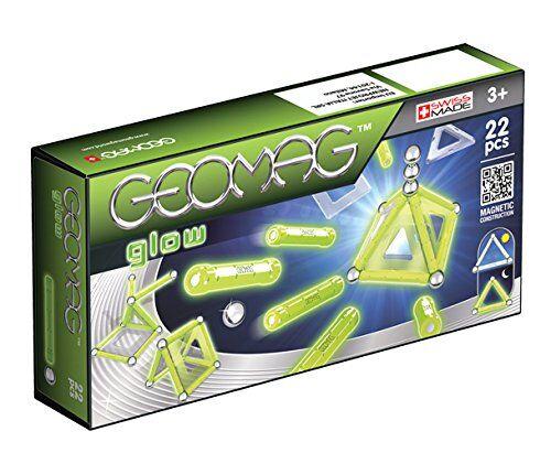geomag glow construcciones magnticas y juegos educativos, multicolor, 22 piezas (334)