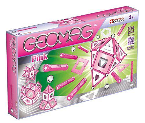 geomag pink construcciones magnticas y juegos educativos,, 104 pizas (344)