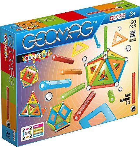 geomag confetti construcciones magnticas y juegos educativos, multicolor, 50 piezas (352)