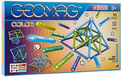 geomag classic color construcciones magnticas y juegos educativos, multicolor, 91 piezas (263)