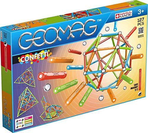 geomag confetti construcciones magnticas y juegos educativos, multicolor, 127 piezas (354)