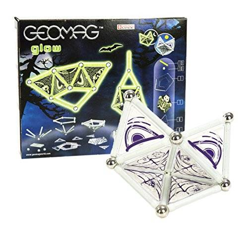 geomag glow construcciones magnticas y juegos educativos, multicolor, 37 piezas (331)