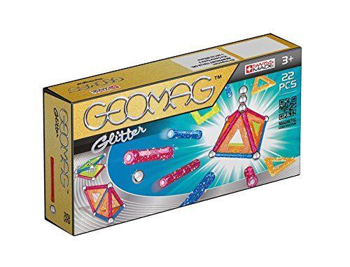 geomag classic glitter construcciones magnticas y juegos educativos, multicolor, 22 piezas (530)