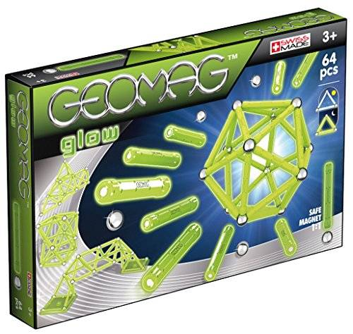 geomag glow construcciones magnticas y juegos educativos,, 64 piezas (336)
