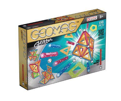 geomag classic glitter construcciones magnticas y juegos educativos, multicolor, 68 piezas (533)