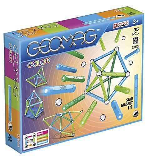 geomag classic color construcciones magnticas y juegos educativos, multicolor, 35 piezas (261)