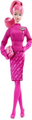 barbie barbie-fxd50 60 aniversario fashion model collection muñeca orgullosamente pelo rosa, multicolor (mattel fxd50)