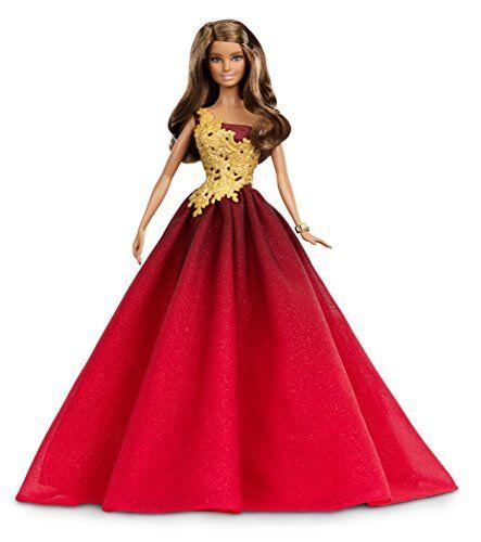 barbie - muñeca fashion, felices fiestas, color rojo (mattel drd25)