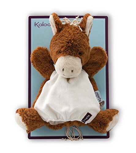 kaloo - coleccin les amis mocha caballo doudou marioneta animal, 30 cm (k963147)