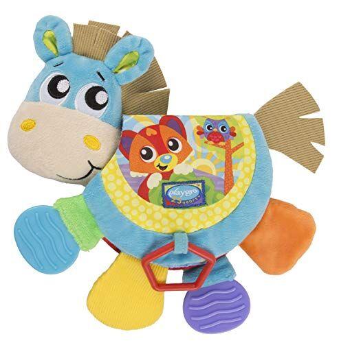 playgro juguetes playgro libro musical en forma de caballo klipp klapp, juguete para bebés, a partir de 3 meses, libre de bpa, colorido, 40219