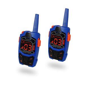 Dickie Toys Walkie Talkie Outdoor - Juego de 2 radios, Alcance de hasta 250 m en Terreno Libre, frecuencia: 434 MHz, Clip para cinturón, Incluye Pilas, a Partir de 4 años, Color Azul