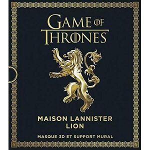 Games of Thrones, Maison Lannister Lion . Masque 3D Et Support Mural (Masque 3D Game of Thrones Masque 3D Et Support Mural Game of Thrones)