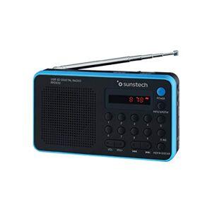 Sunstech RPDS32BL - Radio portátil digital (AM/FM, USB, SD, MMC, 1.5 W), color azul