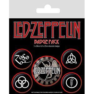 Pyramid Led Zeppelin - Pack De Chapas Symbols