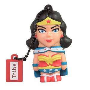 Tribe Warner Bros DC Comics Wonder Woman - Memoria USB 2.0 de 16 GB Pendrive Flash Drive de Goma con Llavero