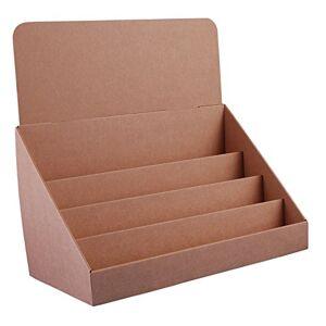 Stand-Store (4niveles soporte de cartón tarjeta de felicitación pantallamarrón (Pack de 4)