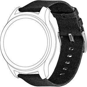 TOPP 40-37-7600 Accesorio de Relojes Inteligentes Grupo de Rock Negro Nylon - Accesorios de Relojes Inteligentes (Grupo de Rock, Negro, Garmin, Garmin Vivomove Garmin Vivoactive 3, Nylon, Plata)