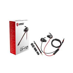 MSI Immerse GH10 - Auriculares (con micrófono, Control Remoto, alámbrico) Color Negro y Rojo, nica
