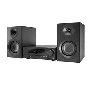 DUAL Dab-MS 170 - Equipo estéreo (Dab(+), Radio FM, Reproductor de CD, transmisión de música vía Bluetooth, Puerto USB, Entrada Auxiliar, Mando a Distancia), Color Negro
