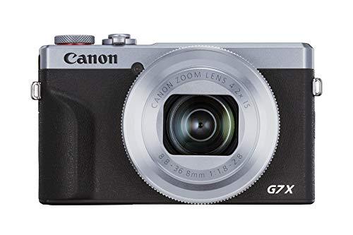 canon powershot g7 x mark iii 3638c002 - cámara digital (20.1 mp, pantalla táctil lcd plegable de 7.5 cm, pantalla abatible, wlan, zoom de 4.2x, 4k, cmos) plata