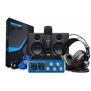PreSonus Kit de grabación de hardware/software PreSonus AudioBox Studio Ultimate Bundle con monitores de estudio