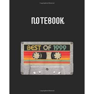 MASSY, Marry Notebook: Best Of 1999 21st Birthday Gifts Cassette Tape Vintage College Ruled Lined Composition Notebook Journal   Notes notebook   120 Pages 8 x 10 inches