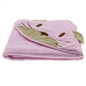 Pippi Hooded Towel W.Catface Bufanda, rosa (Rose), Talla única (Talla del fabricante:8383 cm) para Bebés