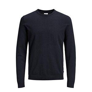 Jack & Jones Jjebasic Knit Crew Neck Noos suéter, Azul (Navy Blazer), Large para Hombre