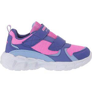 Skechers Magna-Lights, Zapatillas para Niñas, Morado (Purple Textile/HT. Pink Trim Prhp), 27 EU