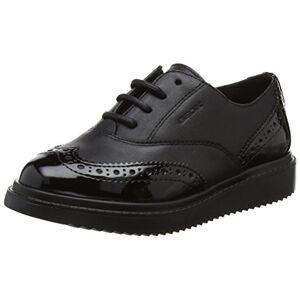 Geox J THYMAR Girl E, Zapatos de Cordones Oxford Niños, Negro (Black), 28 EU