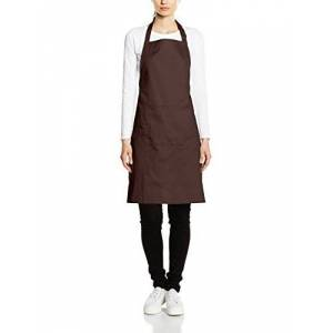 Premier Workwear Colours Bib Apron with Pocket Top, Marrón (Braun - Braun), L para Mujer