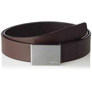 Calvin Klein Formal Plaque Belt 3.5cm Cinturón, Marrón (Turkish Coffe 201), 100 (Talla del fabricante: 85) para Hombre