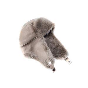 Coolskins Gorro Invierno Aviador Reversible Cordero con Pelo Largo y Cuero 100% Piel y Confección Española, Arena, One Size (Tamaño del fabricante:One Size) Unisex Adulto