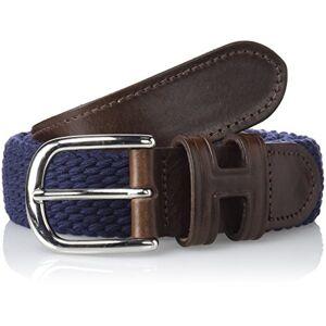 Hackett Parachute Belt Cinturón, Azul (595navy 595), ((Talla del fabricante: Large) para Hombre