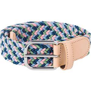 BRAX Stretchgrtel Casual Elastisch Cinturón, Azul (Blue Mix 25), 115 (Talla del fabricante: 100) para Mujer