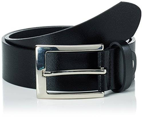 GOL Ledergrtel Cinturón, Negro (Black 2), 70 para Niños
